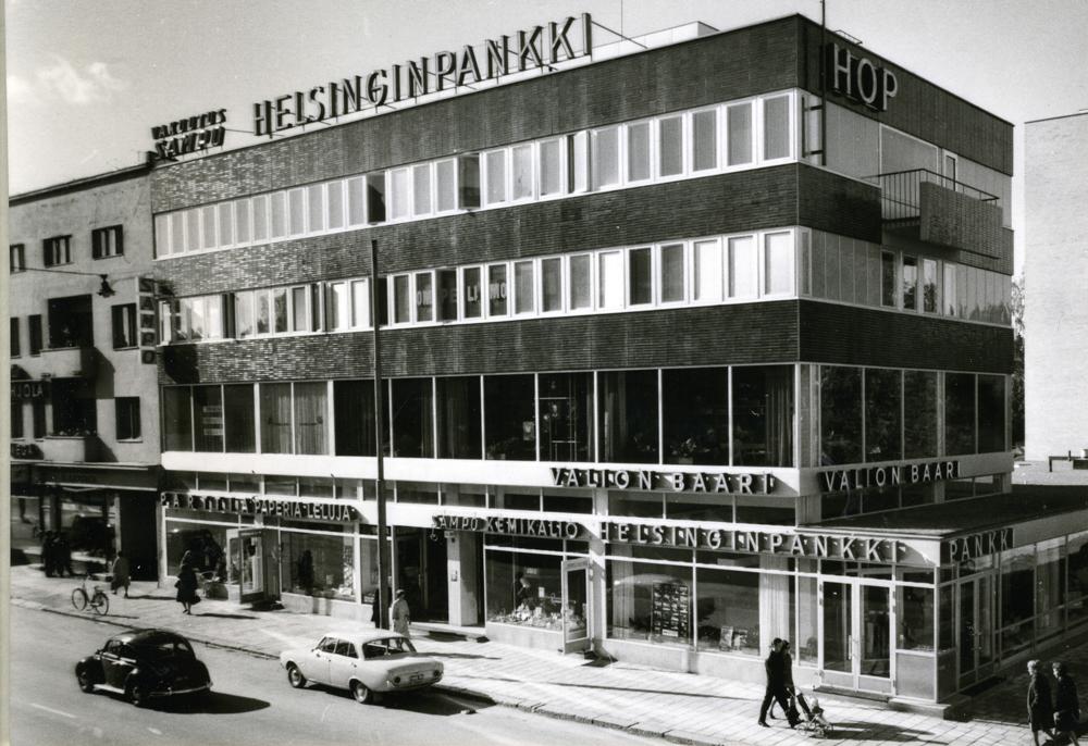 Valion baari Hämeenkadulla toisessa kerroksessa. Teräskiilan kokoelmat. RKM-kokoelmat.