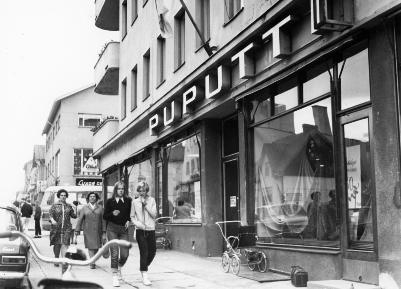 Puputinkulma Hämeenkadun suunnasta 1960-luvun lopulta. RKM-kokoelmat.