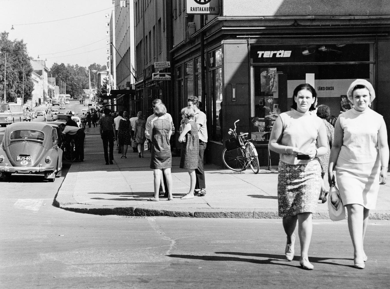 Teräksen kulma vuonna 1967. RKM-kokoelmat.